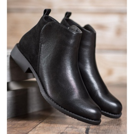 J. Star Flat Heel Boots black 1