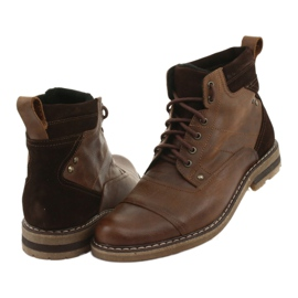 Ankle boots insulated Moskała BR-4 brown 4