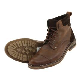 Ankle boots insulated Moskała BR-4 brown 5