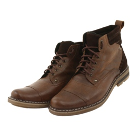 Ankle boots insulated Moskała BR-4 brown 3