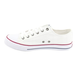 Big Star Sneakers tied white DD174271 red 4