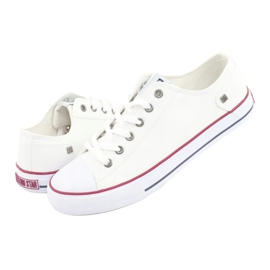 Big Star Sneakers tied white DD174271 red 7