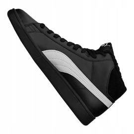 Puma Smash V2 Mid L Fur Jr 366895-05 shoes black 1