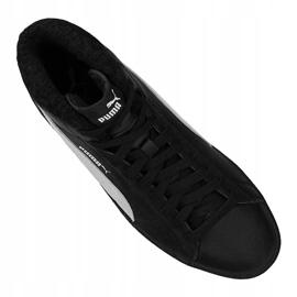 Puma Smash V2 Mid L Fur Jr 366895-05 shoes black 2