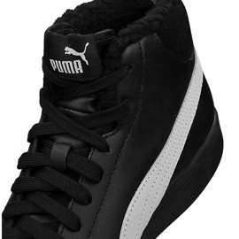 Puma Smash V2 Mid L Fur Jr 366895-05 shoes black 4