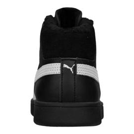 Puma Smash V2 Mid L Fur Jr 366895-05 shoes black 5