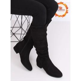 Black Black suede women's boots 3005 Black 1