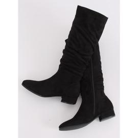 Black Black suede women's boots 3005 Black 2