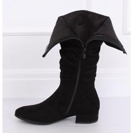 Black Black suede women's boots 3005 Black 3