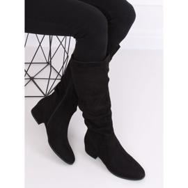Black Black suede women's boots 3005 Black 4
