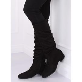 Black Black suede women's boots 3005 Black 5