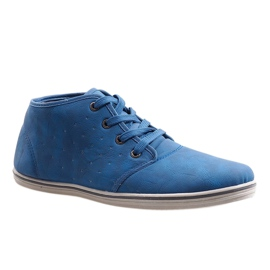 Fashionable High Sneakers TL354-6 Navy 1