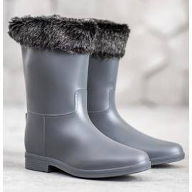 SHELOVET Wellingtons With Fur grey 2