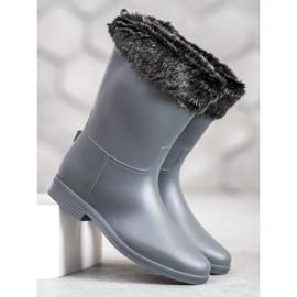 SHELOVET Wellingtons With Fur grey 1
