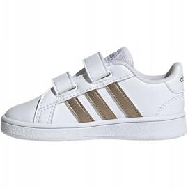 Adidas Grand Court I Jr EF0116 shoes white 2
