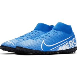 Nike Mercurial Superfly 7 Academy M Tf AT7978 414 football shoes blue multicolored 2