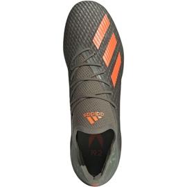 Adidas X 19.2 Fg M EF8364 football shoes grey green 1