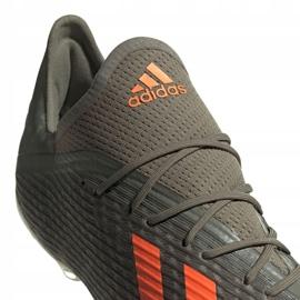 Adidas X 19.2 Fg M EF8364 football shoes grey green 4