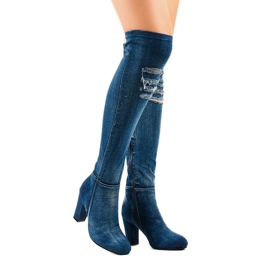 HX15135-96 jeans with rips navy 2