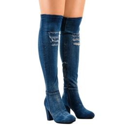 HX15135-96 jeans with rips navy 1
