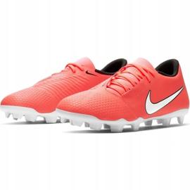 Nike Phantom Venom Club Fg M AO0577 810 football shoes white, orange orange 3