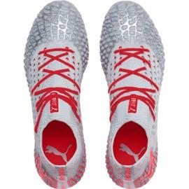Puma Future 4.1 Netfit Fg Ag M 105579 01 football shoes grey red, gray / silver 1