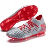 Puma Future 4.1 Netfit Fg Ag M 105579 01 football shoes red, gray / silver grey 3