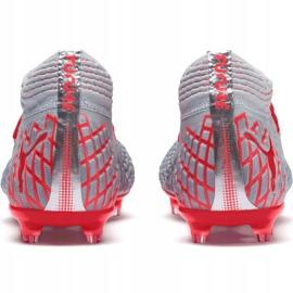 Puma Future 4.1 Netfit Fg Ag M 105579 01 football shoes grey red, gray / silver 5