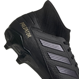 Adidas Predator 19.3 Fg M F35594 football shoes black black 3