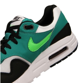 Nike Air Max 1 Gs Jr 807602-111 shoes black multicolored green 1