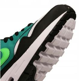 Nike Air Max 1 Gs Jr 807602-111 shoes black multicolored green 2