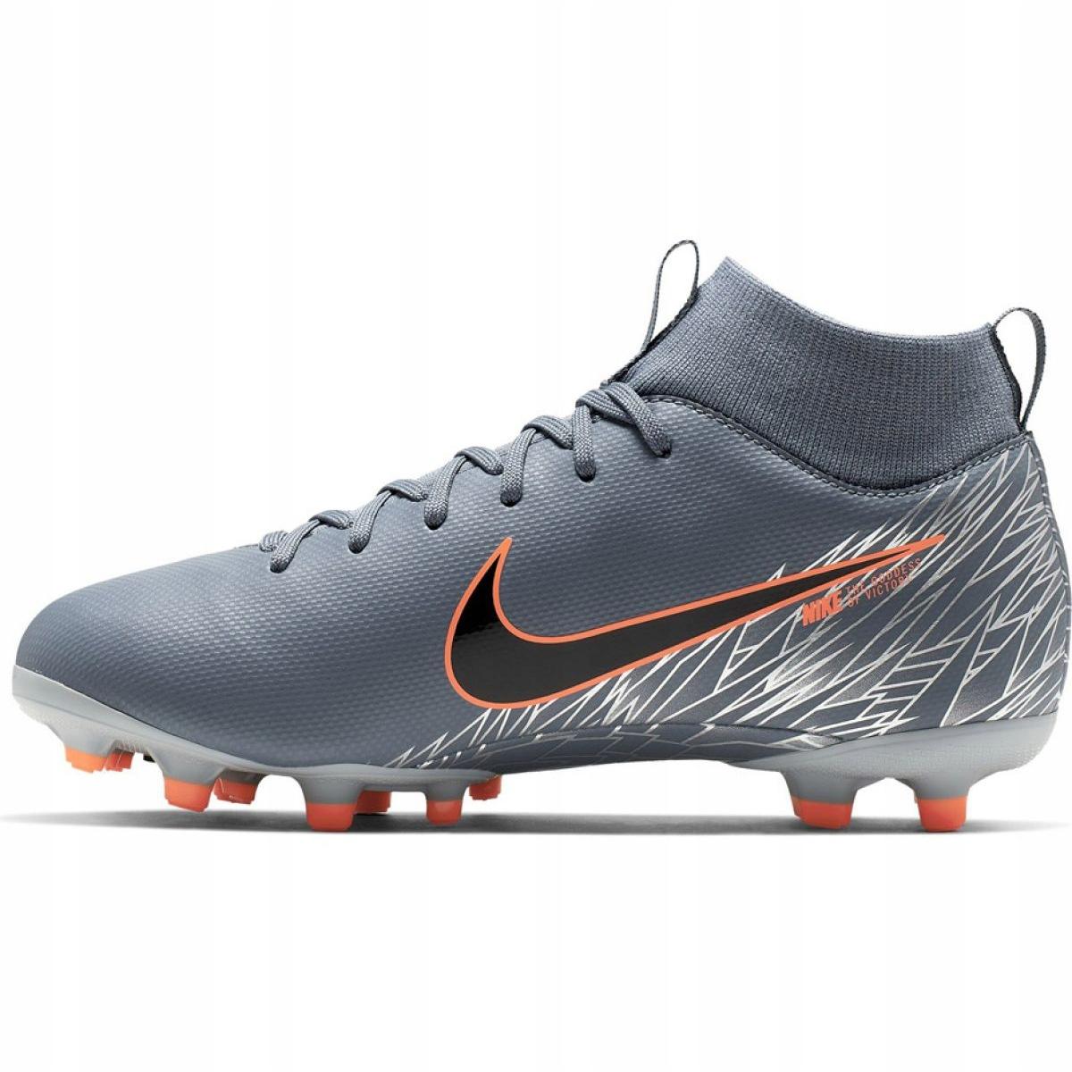 Sumamente elegante Marte Boquilla  Nike Mercurial Superfly 6 Academy Mg Jr AH7337 408 football shoes  multicolored grey - ButyModne.pl