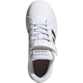 Adidas Grand Court C Jr EF0107 shoes white 1