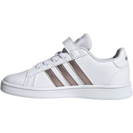 Adidas Grand Court C Jr EF0107 shoes white 2
