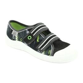 Befado children's shoes 672Y069 black grey green 1