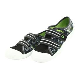 Befado children's shoes 672Y069 black grey green 3