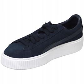 Puma Suede Platform Jr 363663-03 shoes navy 1