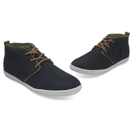 High Casual Sneakers A001-1 Blue navy 2