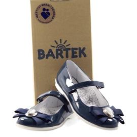 Ballerinas children's shoes Bartek 45418 navy blue multicolored white 4