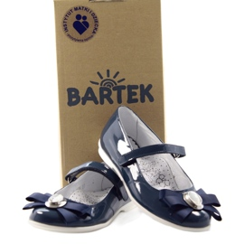 Ballerinas children's shoes Bartek 45418 navy blue white multicolored 4