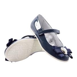 Ballerinas children's shoes Bartek 45418 navy blue multicolored white 3
