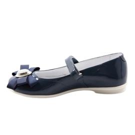 Ballerinas children's shoes Bartek 45418 navy blue multicolored white 2