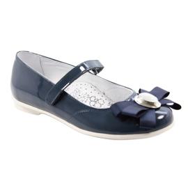 Ballerinas children's shoes Bartek 45418 navy blue multicolored white 1