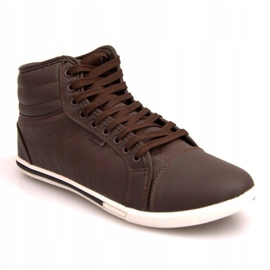 Fashionable High Sneakers 012M Brown 1