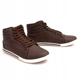 Fashionable High Sneakers 012M Brown 2