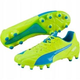 Puma Evo Speed 1.4 Lth Fg M 103615 03 football shoes yellow yellow 1