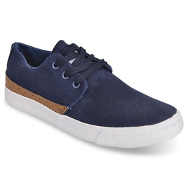 Fabric Sneakers Casual Y010 Blue navy 4