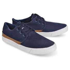 Fabric Sneakers Casual Y010 Blue navy 1