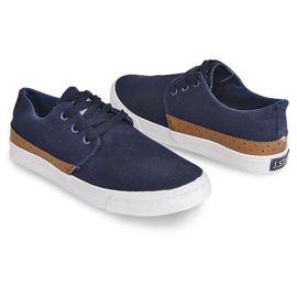 Fabric Sneakers Casual Y010 Blue navy 3