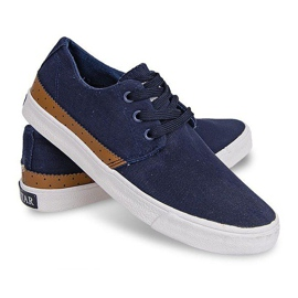 Fabric Sneakers Casual Y010 Blue navy 5